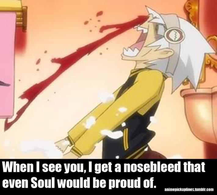 Nosebleed anime gif