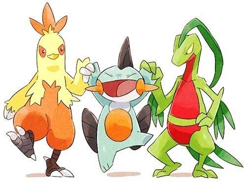 Pokemon gen 3 starters