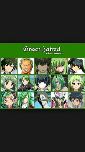 Favorite Green Haired Character Anime Amino
