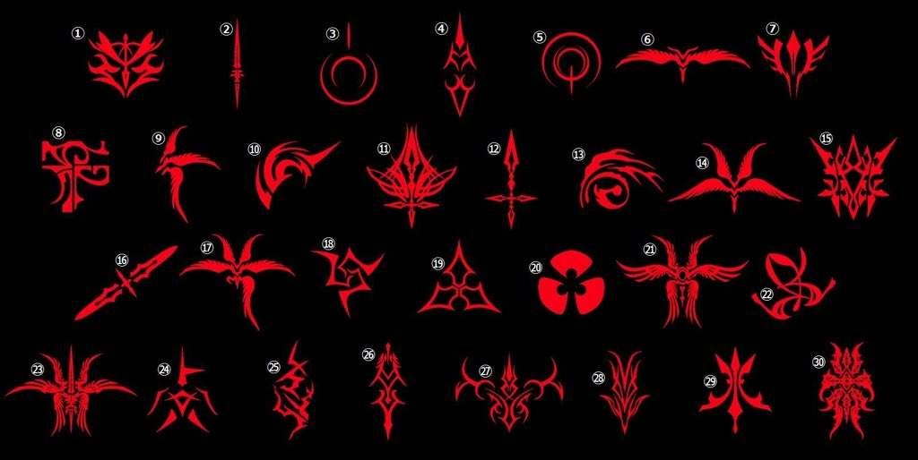 Kingdom Hearts Symbols Wallpaper