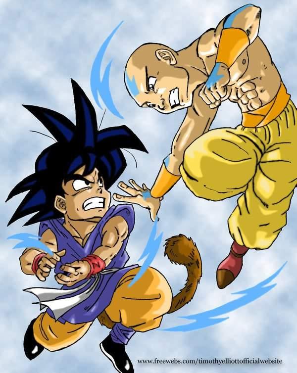 Son Gokugt Vs Avatar Aang Anime Amino