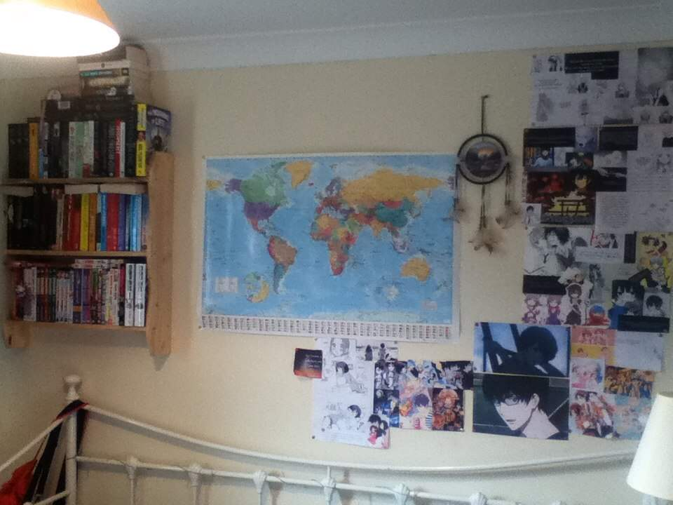 Anime room challenge anime amino my world map which in pretty proud off u and yep im still not over zankyou no terror hence the pictures of nine and twelve the main characters gumiabroncs Image collections
