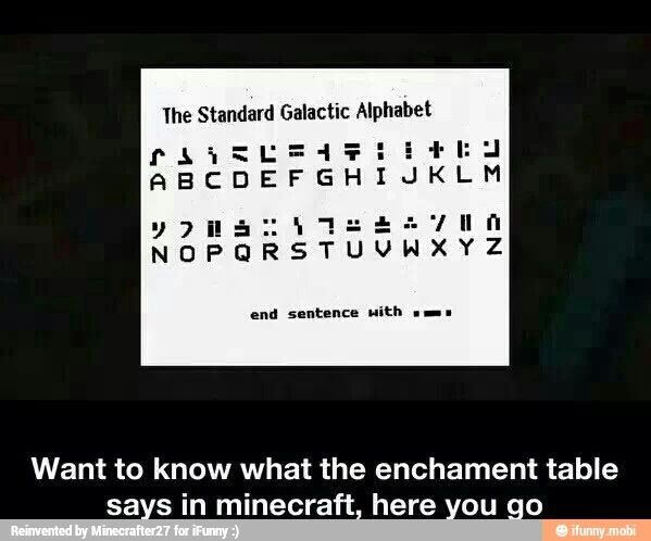 Enchantment language! | Minecraft Amino