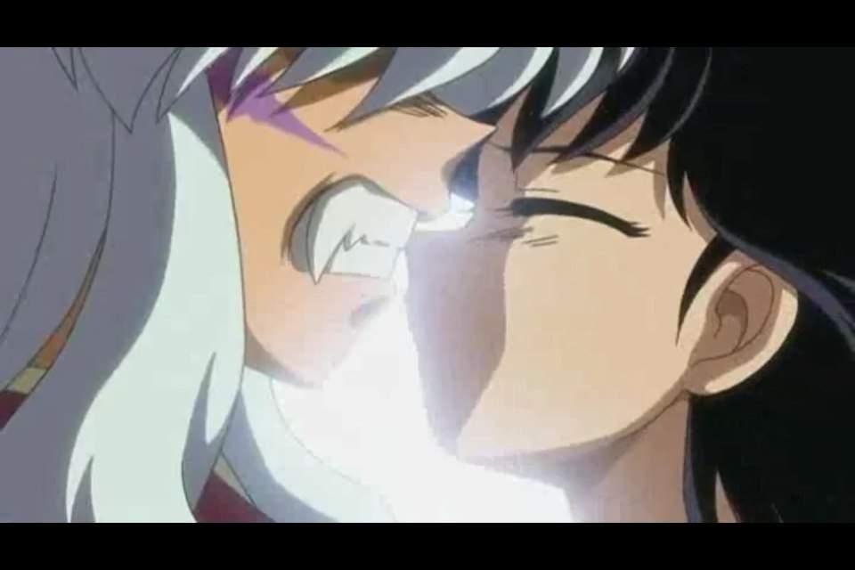 Inuyasha And Kagome Kiss Anime Amino