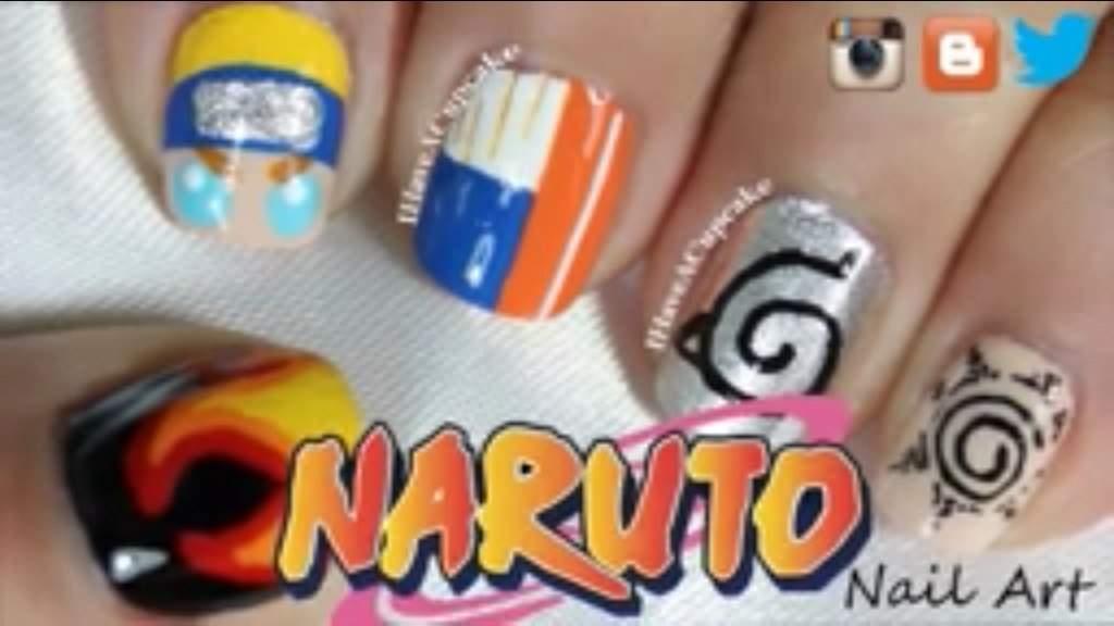 Anime nail art anime amino naruto nail art prinsesfo Gallery